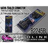 NARVA 82245BL Trailer Adaptor 7 PIN Flat Socket ON CAR to 7 PIN Large Round Plug