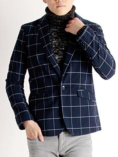(ラフタス)Rafftas TR テーラードジャケット L サイズ ウインドウペン ネイビー チェック柄 春 秋 メンズジャケット スプリングコート ビジネス デザイナーズ メンズ