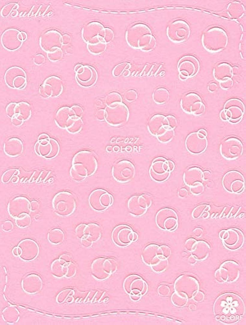 ホップマングルチャールズキージング極薄 ネイルシール 水玉 バブル デコやレジン、アルバム制作などに (01-C105)