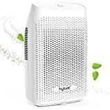Hysure 2000ml Dehumidifier Compact and Portable Dehumidifier for Damp Air, Mold, Moisture in Home, Kitchen, Caravan, Office, White