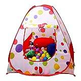 EocuSun 子供用テント ボールハウス キッズハウス 折り畳みテント 水玉柄