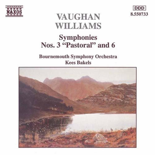 ヴォーン・ウィリアムズ:交響曲第3番「田園交響曲」, 第6番(ボーンマス響/バーケルス)