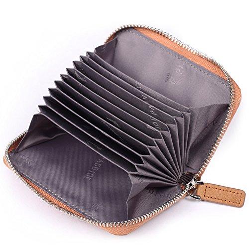[パボジョエ] Pabojoe カードケース 本革 ジャバラ ラウンドファスナー メンズ レディース 兼用 カード入れ 小銭入れ 大容量 おしゃれ
