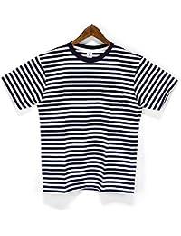 ベルバシーン(VELVA SHEEN)161560N NARROW BORDER Tシャツ ナローボーダークルーネックポケットTEE S/STEE ポケT ボーダーT 半袖Tシャツ