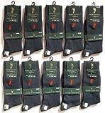 WESTERN POLO TEXASウエスタンポロテキサス紳士靴下「両面刺繍ビジネスカジュアルソックス(紺)25-27cm」10足セット