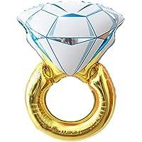 ダイヤモンドリングバルーンロマンチックウェディングブライダルシャワー記念日、エンゲージメントパーティーデコレーション 43インチ