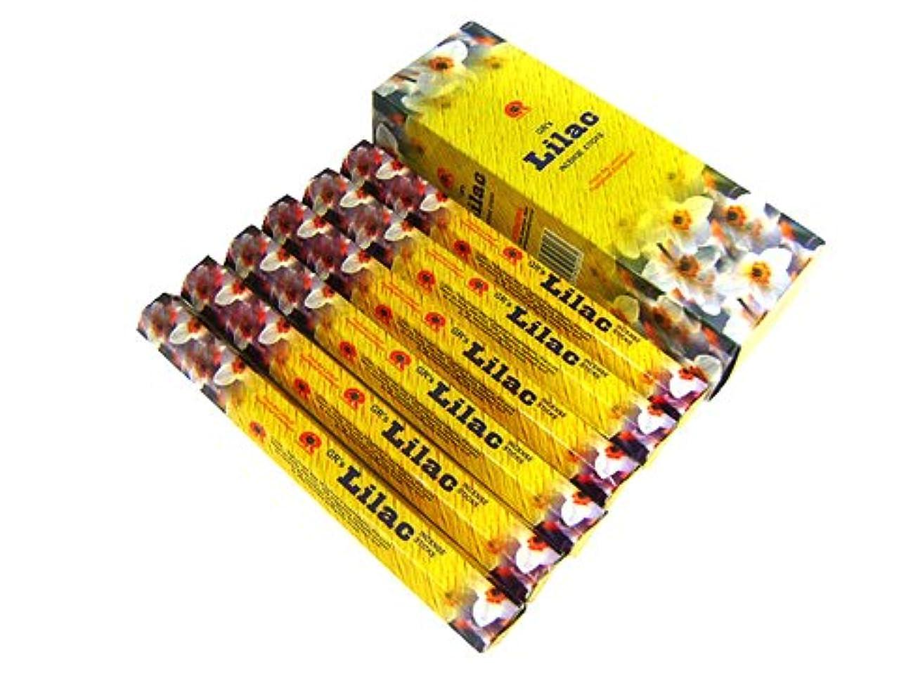 の慈悲で保持する欠如G.R.INTERNATIONAL(ジーアールインターナショナル) ライラック香 スティック LILAC 6箱セット