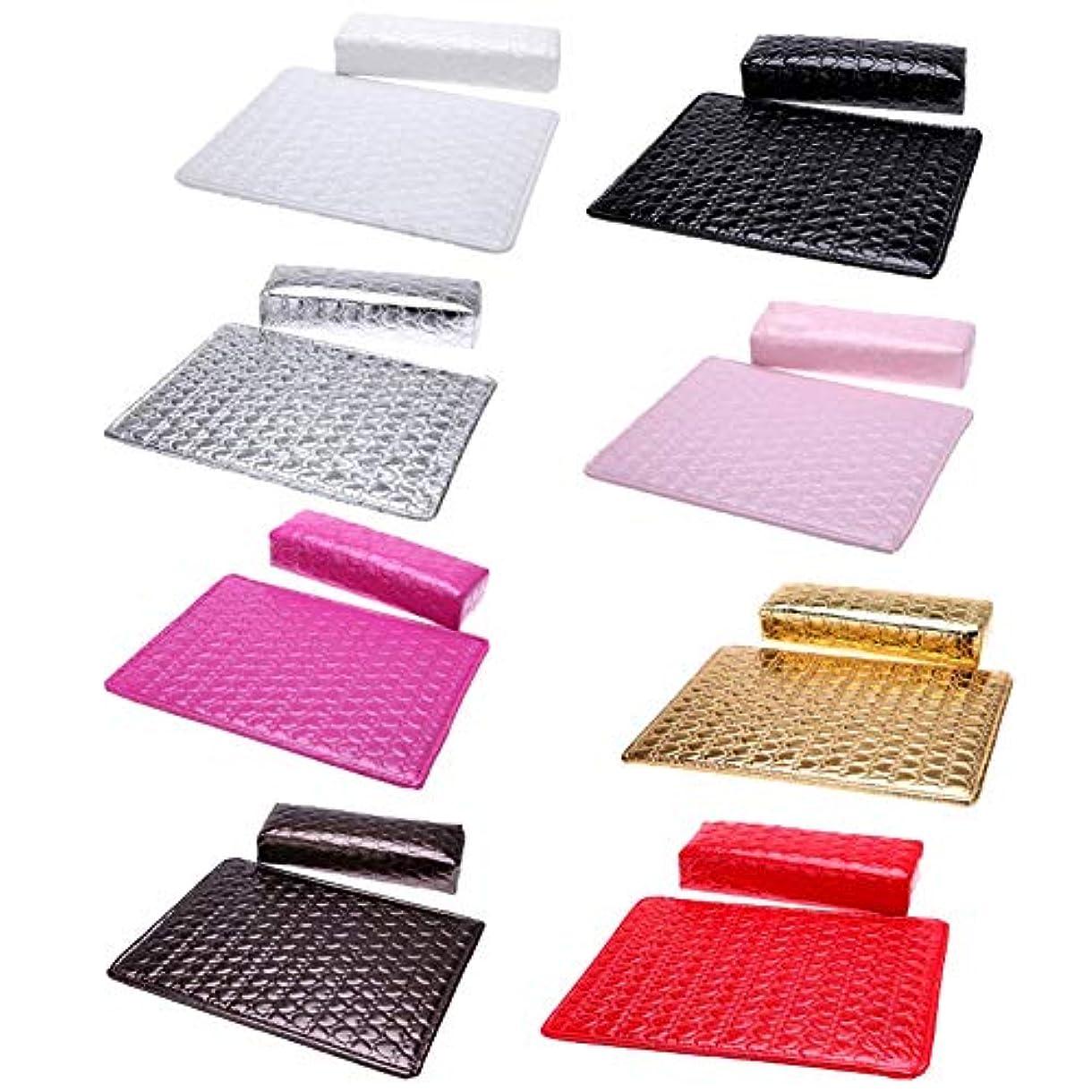 厚さ摘む出力Symboat ハンドパッド防水ソフトPUネイルツールランダムカラーでマニキュアハンド枕