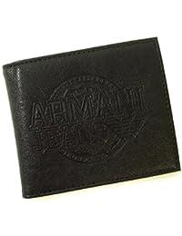 [アルマーニ]ARMANI ジーンズ 財布 二つ折(ブラック) *箱傷あり Z6V73 Y2 12 A-1895 [並行輸入品]