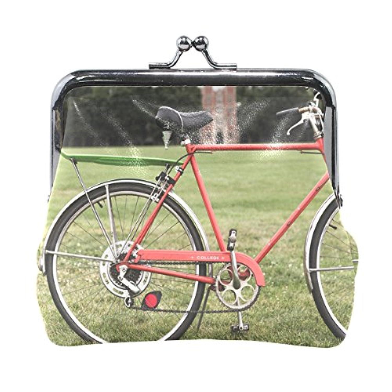 がま口 財布 口金 小銭入れ ポーチ 自転車 Jiemeil バッグ かわいい 高級レザー 好評 買い得 レディース プレゼント ほど良いサイズ