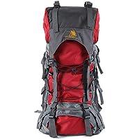登山リュック 、elecfanJ スポーツリュックサック アウトドア 60L 大容量 バックパック 長期旅行/キャンプ /ハイキングなどに対応