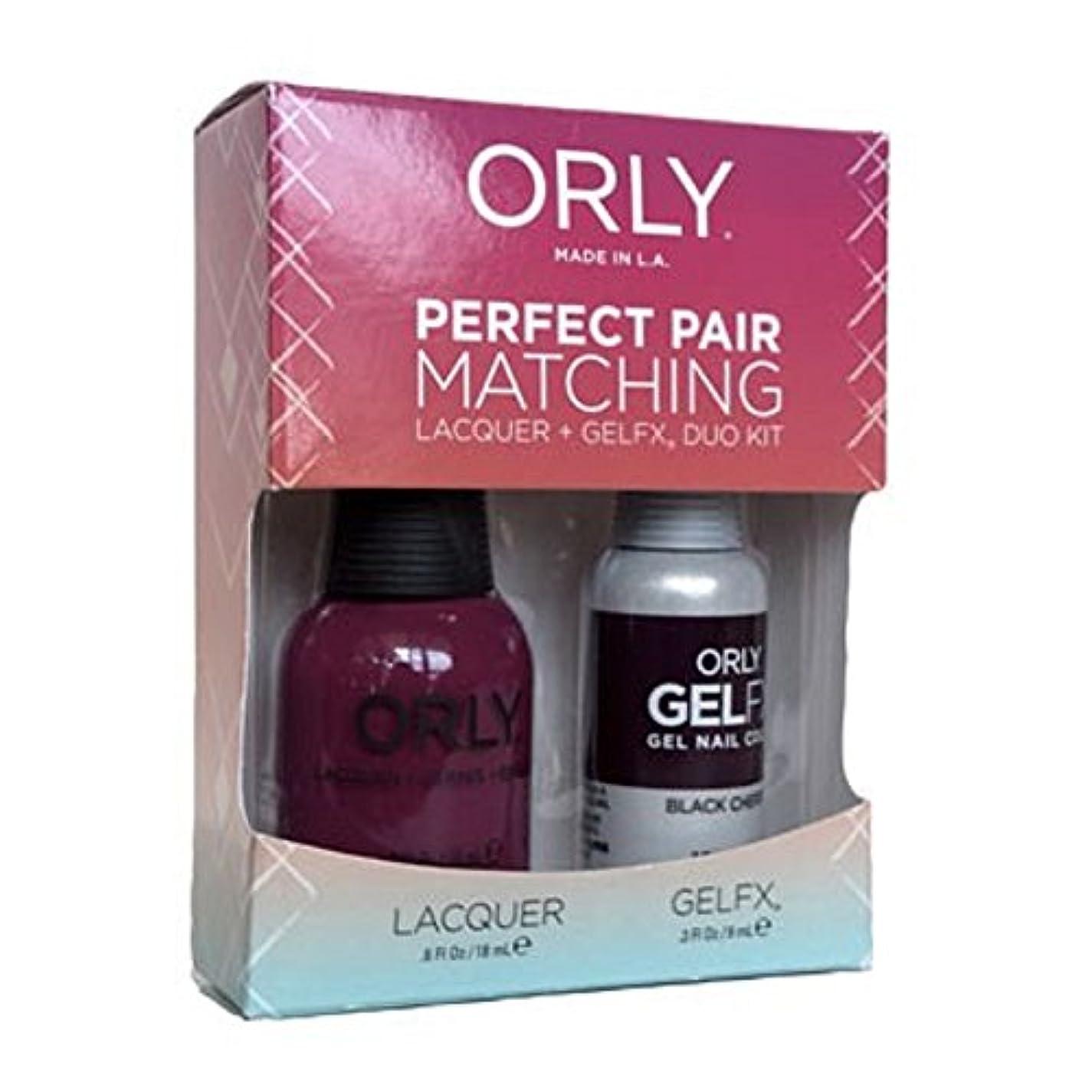 合併症アブセイ海峡Orly - Perfect Pair Matching Lacquer+Gel FX Kit - Black Cherry - 0.6 oz/0.3 oz
