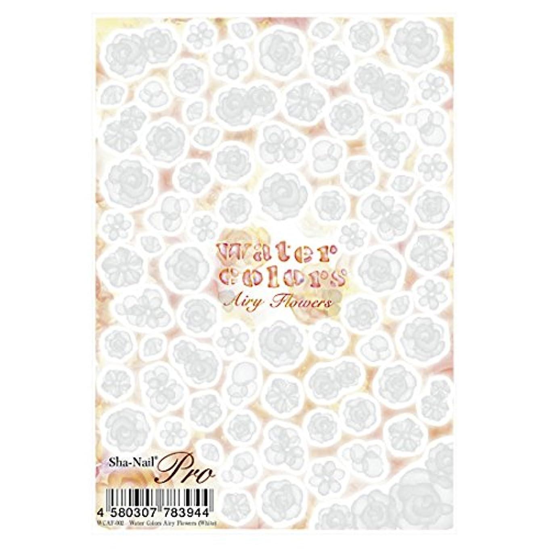 処理内部豆腐写ネイルプロ ネイルシール 水彩 エアリーフラワー ホワイト アート材