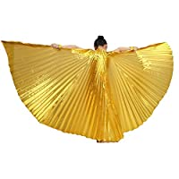 MUNAFIE Halloween Costumes Belly Dance Isis Wings for Children Kids Gold (Only Wing without Sitcks and Bag) [並行輸入品]