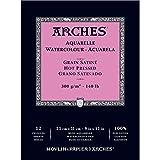 "Arches Watercolor Paper Pad, 140 pound, Hot Press, 9""x12"""