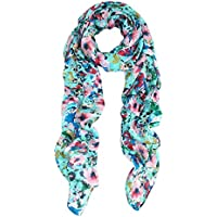Elegant Pink Floral Print Fragment Fashion Scarf Wrap - Diff Colors Available