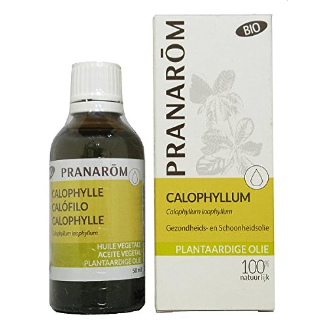 墓地定期的な母プラナロム カロフィラムオイル 50ml (PRANAROM 植物油)