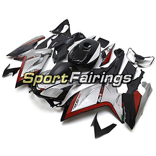 Sportfairings 外装部品の適応モデル レッドシルバーオートバイボディキットインジェクション ABS フェアリングキットアプリリア Aprilia RS4 125 RS125 2006 - 2011 年 06 07 08 09 10 11