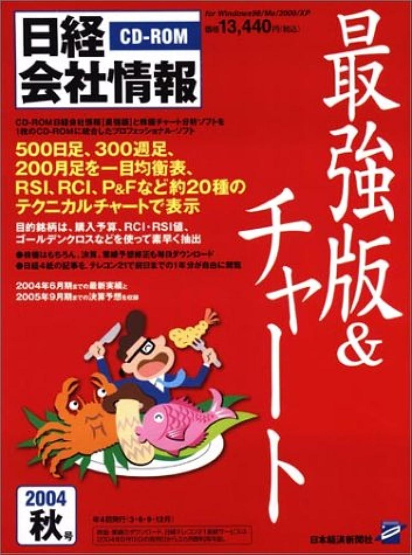 キャプチャー足首乳白色CD-ROM 日経会社情報 最強版&チャート 2004年秋号