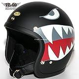 TT&CO. スーパーマグナム タイガー スモールジェットヘルメット SG/DOT 規格品 マットブラック