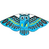 FUNCOCO Owl Kite, Easy Flyer Kite for Kids - Easy to Assemble, Launch, Fly- Perfect for Beach or Park by Hengda Kite
