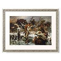 Bussche, Joseph E. van den,1837-1908 「Napoleon's flight from Russia 1812. Painted 1901.」 額装アート作品