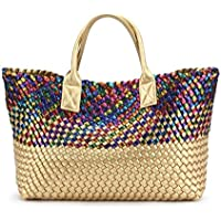 KHBTS Leather Snakeskin Bags for Women Large Tote Luxury Top-Handle Handbag (Color : A)
