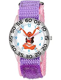 ディズニーGirl 's ' Moana ' QuartzプラスチックとナイロンカジュアルWatch , Color :パープル(モデル: wds000041 )