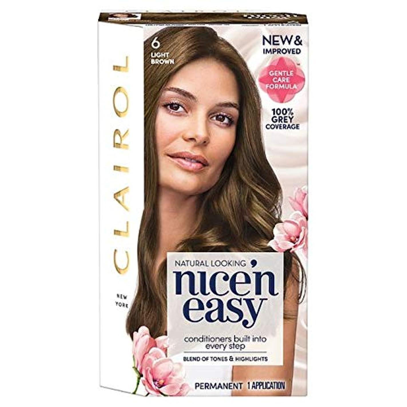 天文学子供っぽい駅[Nice'n Easy] クレイロール素敵な「N簡単なライトブラウン6ヘアダイ - Clairol Nice 'N Easy Light Brown 6 Hair Dye [並行輸入品]