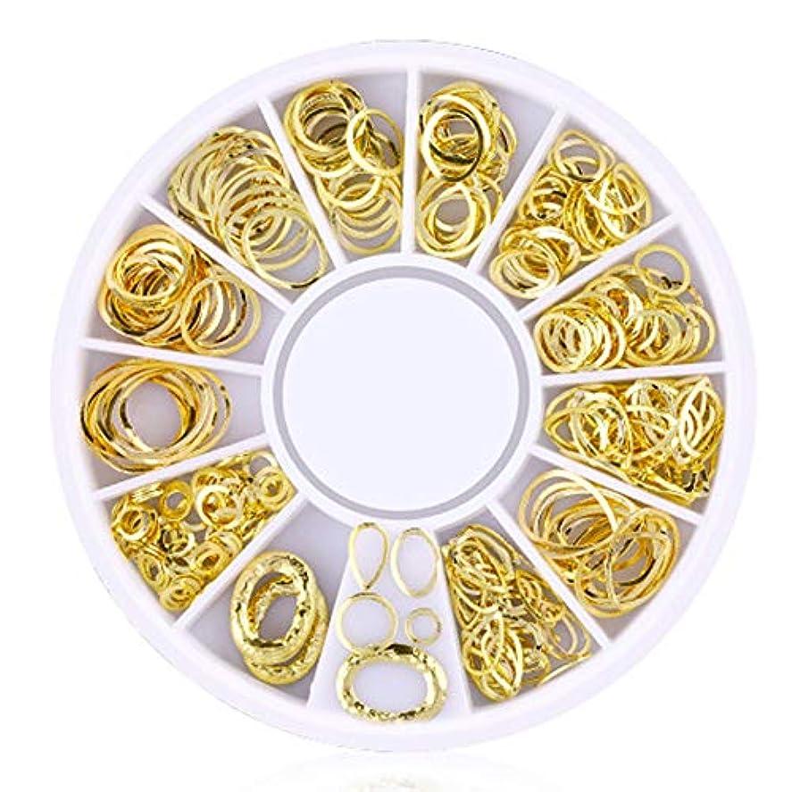 ロードハウスフォーカス従事する200カウント/バッグネイルステッカー3dミニメタルスタッド魅力的なグリッターネイル用品diyネイルファッション装飾的な円形の中空シリーズ