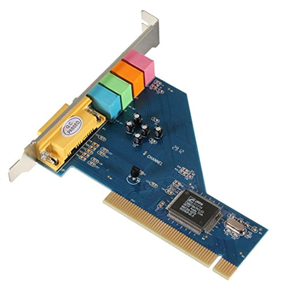 ハイジャック干渉する彫るETbotu 4チャンネル 8738 チップ 3D オーディオ ステレオ PCI サウンドカード Win7 64ビット用