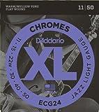 【国内正規品】D'Addario ダダリオ エレキギター弦 フラットワウンド Jazz Light (11-50) ECG-24 ECG24