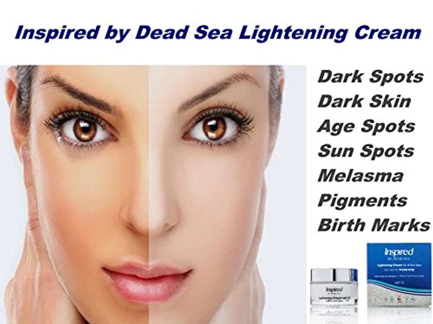 気になる航空機無法者Inspired by Dead Sea Lightening Bleaching Whitening Brightening Cream Best Treatment for Dark Skin,Discoloration...