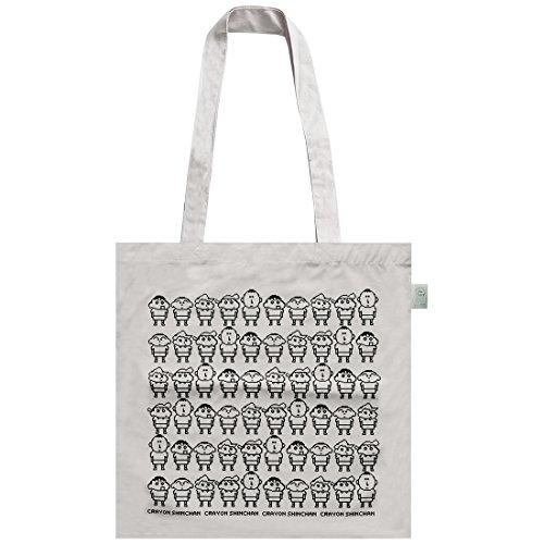 エコ バッグ クレヨンしんちゃん エコマーク付 コットン バッグ クレヨンスタイル スモールプラネット 38×38cm お買い物かばん