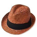 小顔効果バツグン 大きいサイズ 小顔 メンズ レディース 麦わら帽子 ストローハット 000377-0023-58