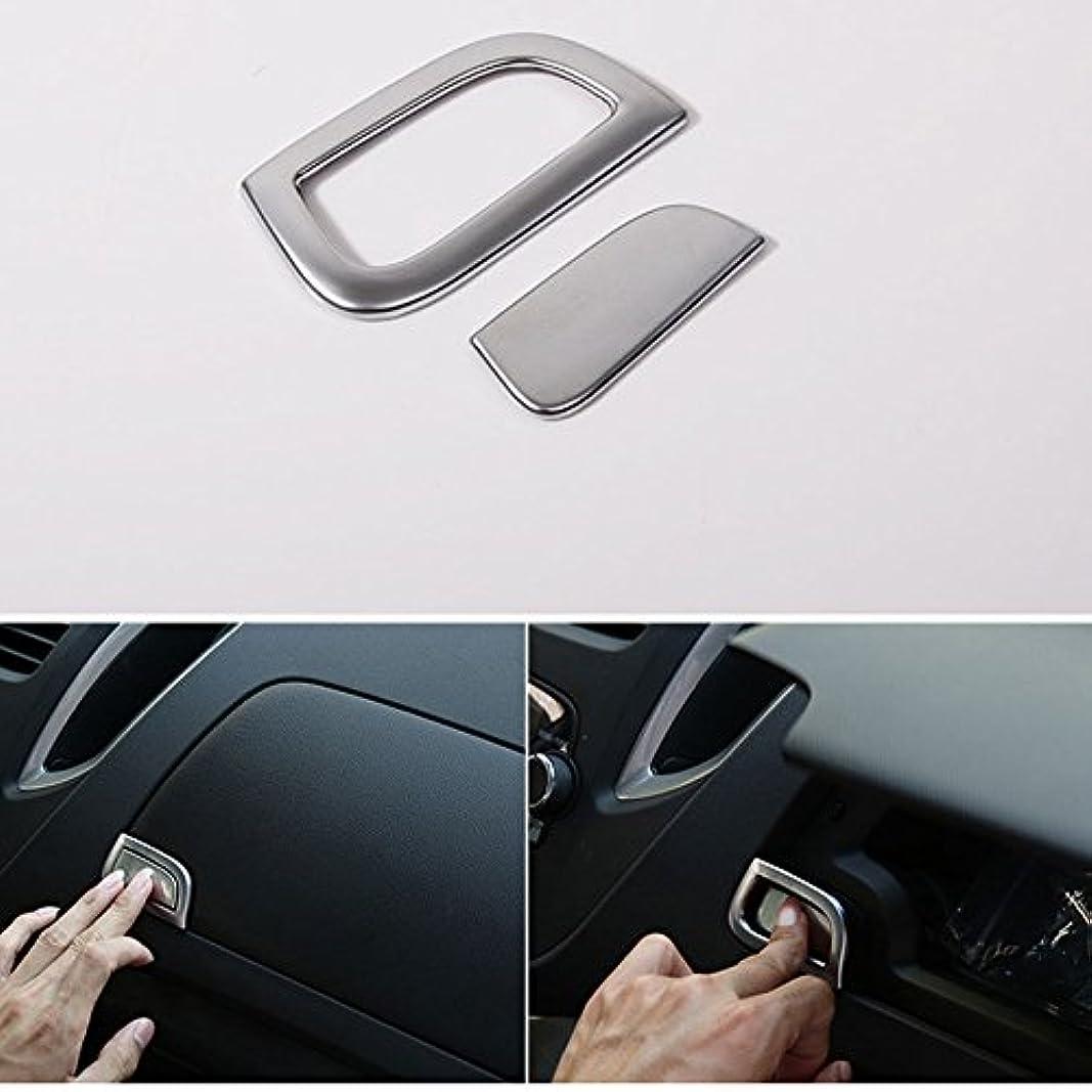 気を散らすアコーレンチJicorzo - Car Dash Golve Storage Box Switch Button Cover Trim ABS Chrome Decor Frame Car Styling Sticker For Chevrolet...