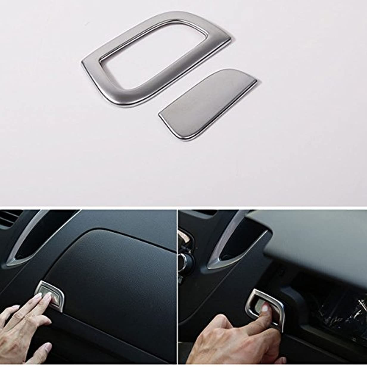 ロシア葬儀南西Jicorzo - Car Dash Golve Storage Box Switch Button Cover Trim ABS Chrome Decor Frame Car Styling Sticker For Chevrolet...