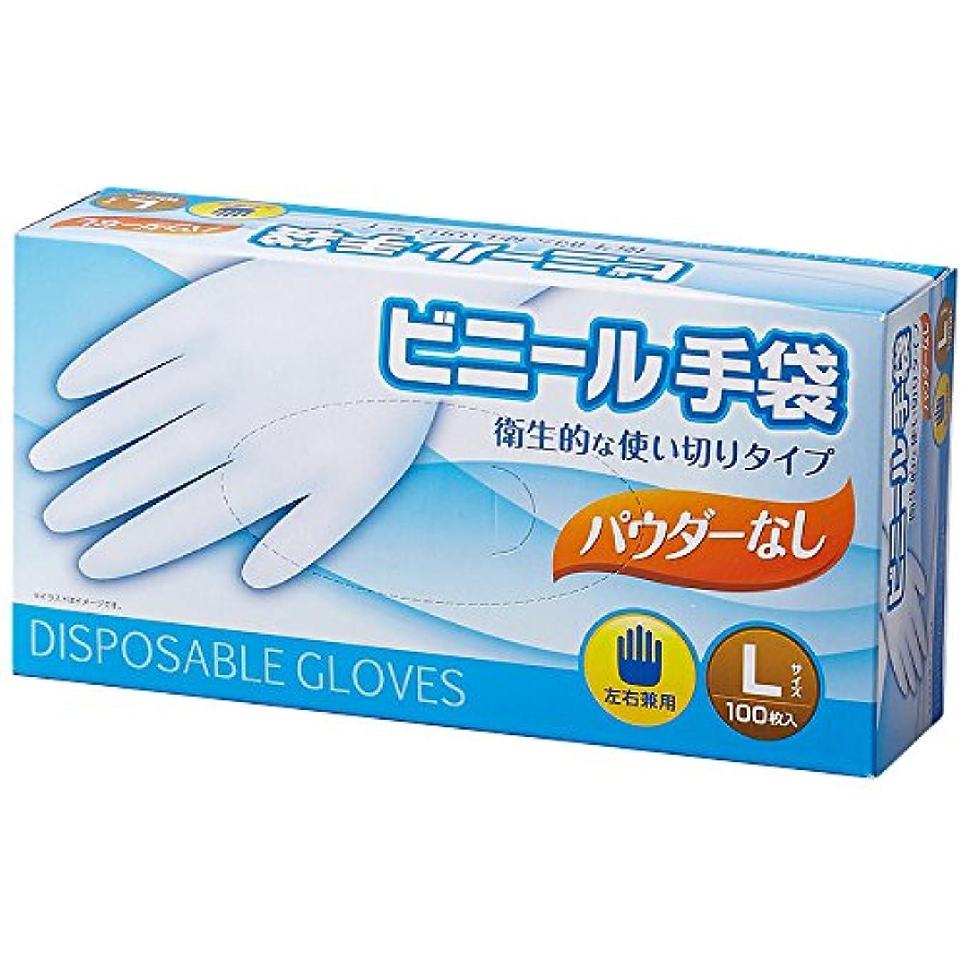今日明快日食コーナン オリジナル ビニール手袋パウダーなし L KFJ19-9415