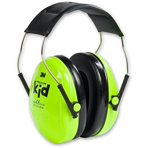 3M Peltor 子供用 防音 イヤーマフ ヘッドバンド式 ネオングリーン H510AK-442-GB [並行輸入品]