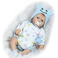Reborn新生児赤ちゃん人形ソフトビニール製リアルな子供用おもちゃマグネットおしゃぶり22インチ