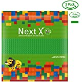 NextX ブロック クラシック 基礎板 互換性のある 大きいサイズ 1色2枚 両面ブロックプレート 32x32ポッチ