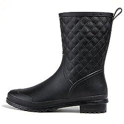 レインブーツ レディース メンズ ミドル丈 おしゃれ レインシューズ 長靴 婦人靴 ラバーブーツ ローヒール 無地 防水加工 通勤 通学 大きいサイズ 梅雨