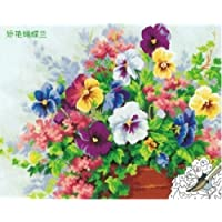 DIY PBN-paint by number Beautiful Flowers 16X20 inches Frameless. by ES Art [並行輸入品]