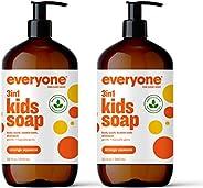 Everyone 3-in-1 Kids Soap - Shampoo, Body Wash, & Bubble Bath - Orange Squeeze, 32 Oz, 2C