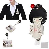 xhorizon TMファッショナブルなホットAdorableホワイトJapanese Doll Cute Lovely ID / ICバッジベルトクリップリール柔軟な格納式ホルダーza5