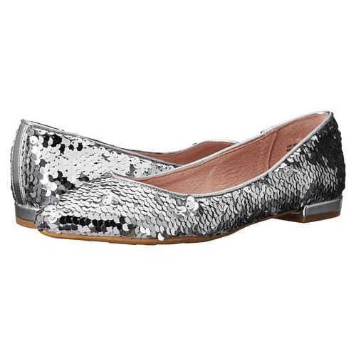 (チャイニーズランドリー)Chinese Laundry レディースフラットシューズ・スリッポン・靴 Gavin Silver Sequins 9.5 26.5cm M [並行輸入品]