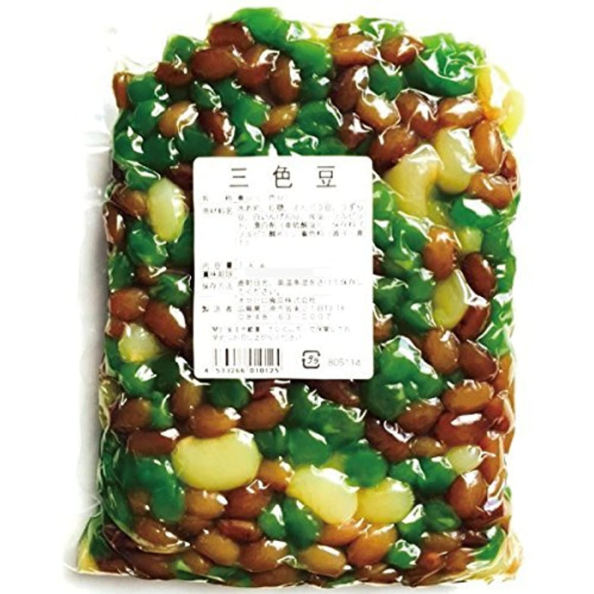 カウントニュース心配するオクヒロ食品 煮豆(三色豆) 1kg