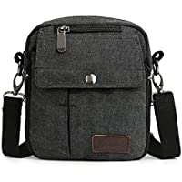 Zicac Men's Small Vintage Multipurpose Canvas Shoulder Bag Messenger Bag Purse