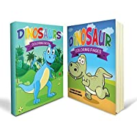 Dinosaur Coloring Books for Boys Bundle - Two Great Dinosaur Coloring Books for Boys for Kids - Includes a Dinosaurs Coloring Book and Jumbo Dinosaur Coloring Pages for Kids of All Ages with 80+ Great Images - Perfect for Boys and Girls and Definitely Mummy Approved by Speedy Coloring Books [並行輸入品]