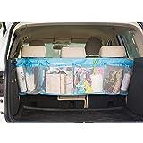 車用収納バッグ 子供小物収納バッグ 自動車の収納バッグ トランクのオーガナイザーのシートカバー 子供おもちゃ収納 電話収納 iphoneホルダーバッグ(カラー:ブルー)